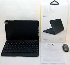 NEW Zagg Keys Folio Apple iPad Mini w/Retina Display Bluetooth Keyboard backlit