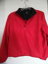 Womens  Ativa Red Pull Over Light Jacket Size Large