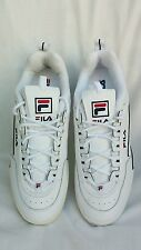 NEW FILA Disruptor Club Lea White Blue Men's Size 13 Free Shipping!