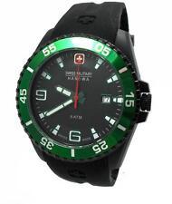 Swiss Military Hanowa Ranger Datum Uhr schwarz grün 06-4200.27.007.06     NEU