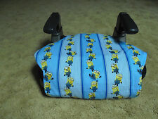 Minions print booster seat cover- booster seat not included