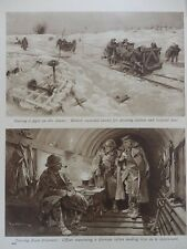 1916 STORMING OF ANCRE SOMME SCENES LIGHT RAILWAY CARRYING WOUNDED WWI WW1