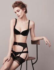 Agent Provocateur Jena Black Silk Satin Briefs Pants Knickers Sz2 Uk8-10