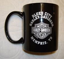 Blues City Memphis Tennessee Harley Davidson Black Coffee Mug