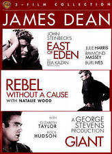 East of Eden/Rebel Without a Cause/Giant (DVD, 2015, 3-Disc Set) NEW