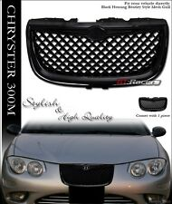 FOR 1999-2004 CHRYSLER 300M BLACK LUXURY MESH FRONT HOOD BUMPER GRILL GRILLE ABS