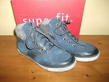 Garçons superfit 208 goretex bleu cuir zip/lace boot taille uk 1 eur 33 neuf!