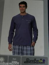 Pijama caballero Basket T.48/M 100% algodón, pantalón de tela Hecho en España