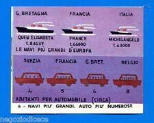 EUROPA - Imperia 1965 - Figurina-Sticker n. 6 - NAVI GRANDI-AUTO NUMEROSE -Rec