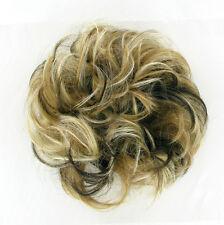 chouchou peruk cheveux blond clair méché cuivré clair chocolat ref: 17/15613h4