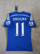 14-15 CHELSEA DROGBA Authentic Official Soccer Jersey Football shirt [S]