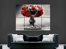 NUCLEAR EXPLOSION CLOWN FANTASY GIANT WALL POSTER  PICTURE PRINT LARGE HUGE