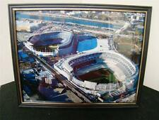 GREAT AERIAL PICTURE OF YANKEE STADIUM OLD AND NEW FRAMED