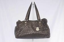 Cole Haan Brown Woven Leather Handbag Purse 770 AC1016