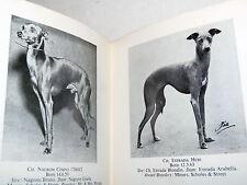 Pedigree Cani - Thring: Italian Greyhound, il Levriero Italiano, illustrato '60
