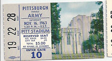 1963 Army vs Pittsburgh college football ticket stub