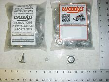 144 WOODYS Signature Series Stud 1.075 Studs Square Alum Backer Snowmobile Track