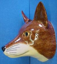 QUAIL CERAMIC FOX OR VIXEN HEAD WALL POCKET OR VASE - BRITISH WILDLIFE ANIMAL