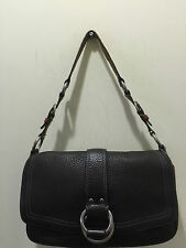 COACH AUTHENTIC VINTAGE BROWN PEBBLE LEATHER SHOULDER BAG10133 PRICE MARKED DOWN
