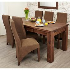 Mayan solid walnut dark wood home furniture large extending dining table