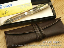 Pilot (NAMIKI) Custom 823 Brown Smoke Fine-nib & Pensemble Single pocket Brown