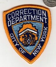 Small 3 inch Correction Department PATCH STATE OF NEW YORK Cloth Badge