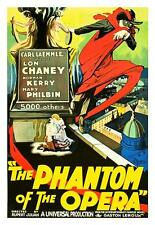 Phantom of the Opera Vintage Movie Poster Lithograph Lon Chaney Hand Pulled  S2