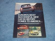 """1978 Ford Fiesta Vintage 3pg Ad """"Europe's Most Successful New Car...."""""""