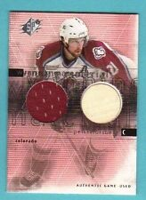 2000-01 SPX Winning Materials Peter Forsberg Jersey/Stick Avalanche