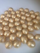 50 individually Gold wrapped solid  chocolate balls/wedding favours/ sweets