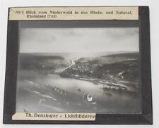 Niederwald Rheintal Nahetal, antikes Lichtbild Glasplatte ca. 1920 #E885