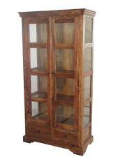 Solide palissandre bois grand verre façade vitrine armoire unité