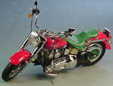 FRANKLIN MINT 1998 HARLEY DAVIDSON FATBOY 2000 CHRISTMAS LE RED/GRN 1/10 MINT