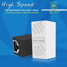 2 Pcs RJ45 Straight Network Cable Ethernet LAN Coupler Joiner Connecter Adapter