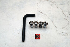 Anti-Theft  *BLACK* Security Screws for AUDI REAR License Plate Frame (4 pcs)