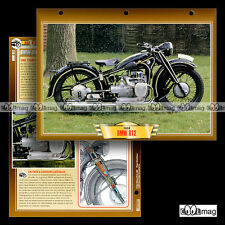 #050.09 Fiche Moto BMW 750 R12 1936 Motorrad / Classic Motorcycle Card