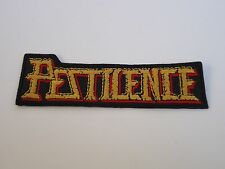 PESTILENCE DEATH METAL EMBROIDERED PATCH