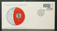 Franklin Mint 1974 50 Yen Showa Japan Coins of All Nations Stamp Set