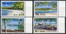 Tuvalu 1994 Sg # 694-7 Isla Paisaje optd Modelo Mnh Set #a 86195