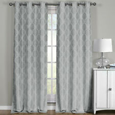 "Paisley Gray Blackout Thermal Jacquard Window Curtains 76"" W x 84"" L (Pair)"