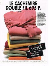 PUBLICITE ADVERTISING 015  1995  GALERIES LAFAYETTE  les pulls cachemire