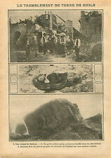 Sicilia Earthquake tremblement de terre Sicile Calistri Italia 1910 ILLUSTRATION
