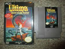 Ultima: Quest of the Avatar (Nintendo NES, 1990) with Box FAIR