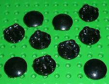 LEGO - Plate, Round 2 x 2 with Rounded Bottom, BLACK x 10 (2654) Y53