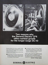 2/1969 PUB GENERAL ELECTRIC CF6 ENGINE MCDONNELL DOUGLAS DC-10 AIRLINER AD