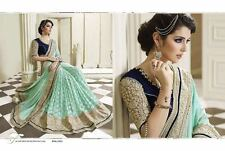 INDIAN DESIGNER WOMEN WEDDING SAREE BOLLYWOOD PARTY WEAR ETHNIC SARI 4075