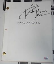 Richard Gere Signed Personally Owned Used Final Analysis Script PSA/DNA COA 1991