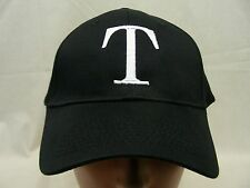 T LOGO - PORT & COMPANY - EMBROIDERED - ADJUSTABLE BALL CAP HAT!