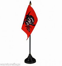 RED SKULL PIRATE TABLE DESKTOP FLAG Jolly Roger skull and swords PIRATES FLAGS