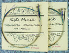 2 Sets Süße Musik Violin Strings 4/4 E A D G German Silver Flat Wound Ball End